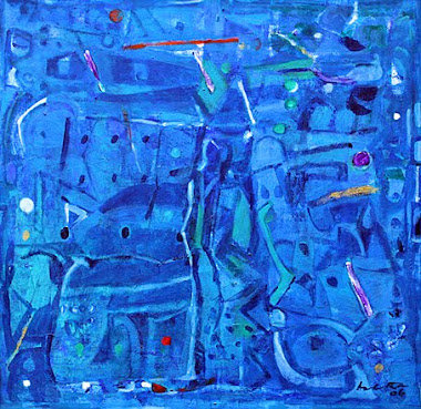 'Untitled' (blue abstract) by Achuthan Kudallur