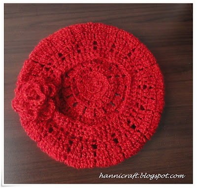 How to make flower crafts: Chain Mesh Beret