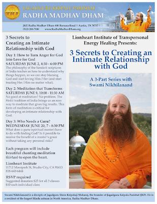 Jagadguru Shree Kripaluji Maharaj's disciple speaking in Studio City, California