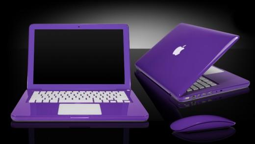 Purple Apple Laptop Computer