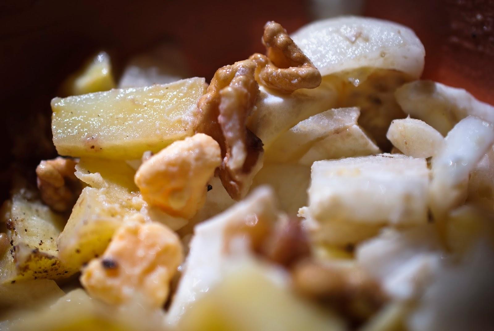 Ensalada patata cebolla nueces