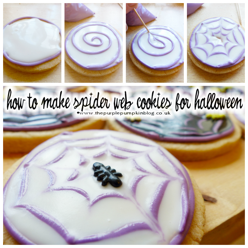 How to make #Halloween Spider Web Cookies