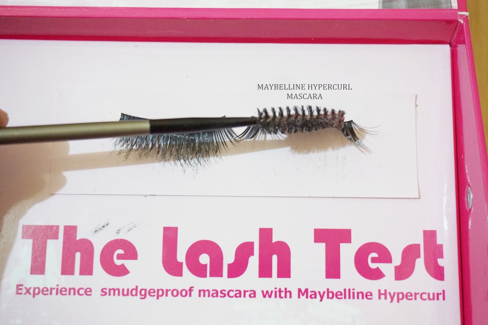 maybelline hypercurl mascara does not smudge at all