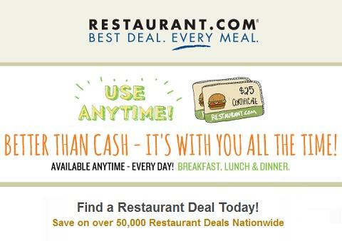 Restaurant discount
