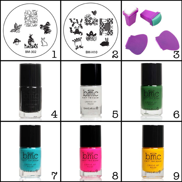 Bundle Monster Easter Stamping Plates and Polishes