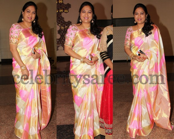 Hema in Off White Uppada Saree