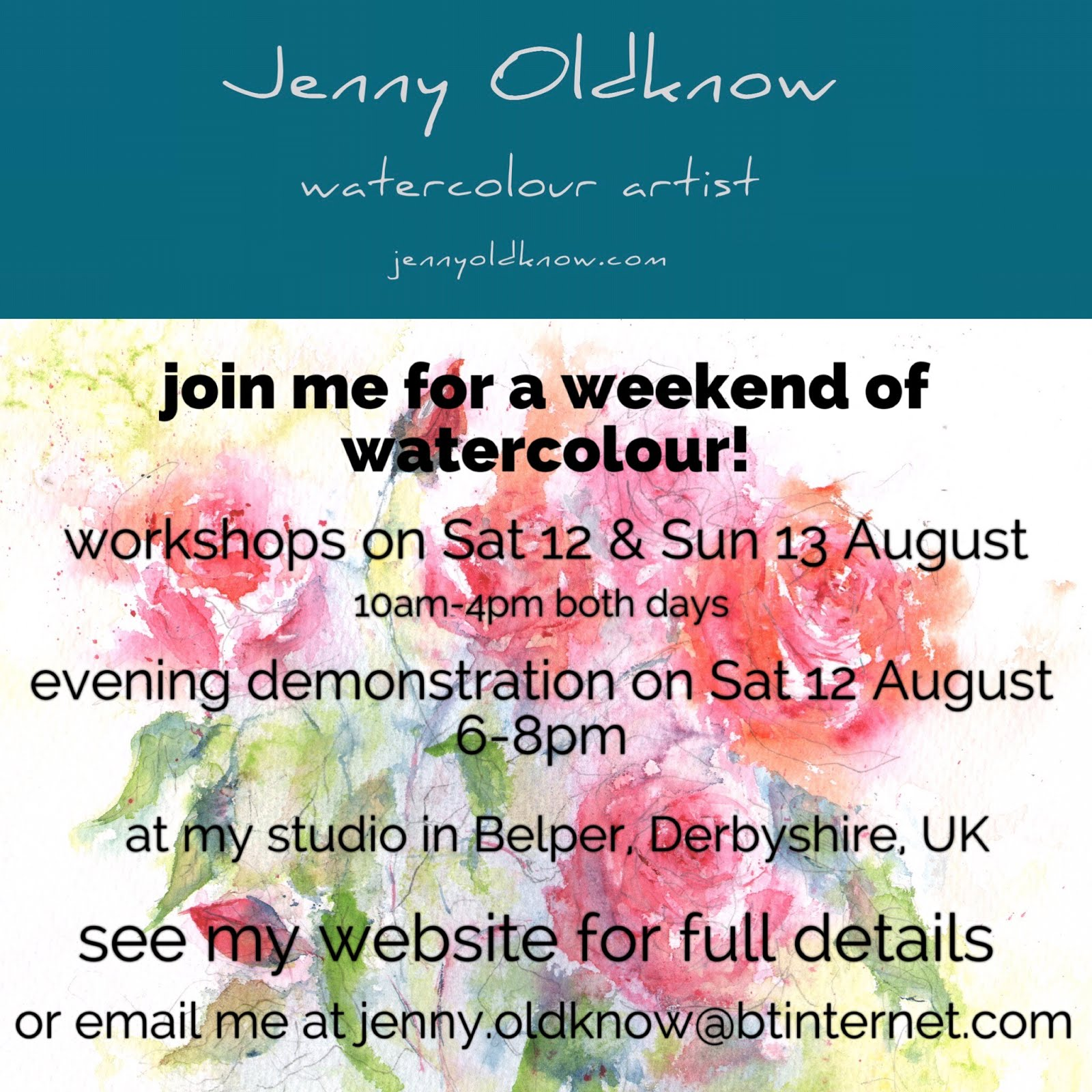 join me for my 2017 Summer Watercolour Weekend...