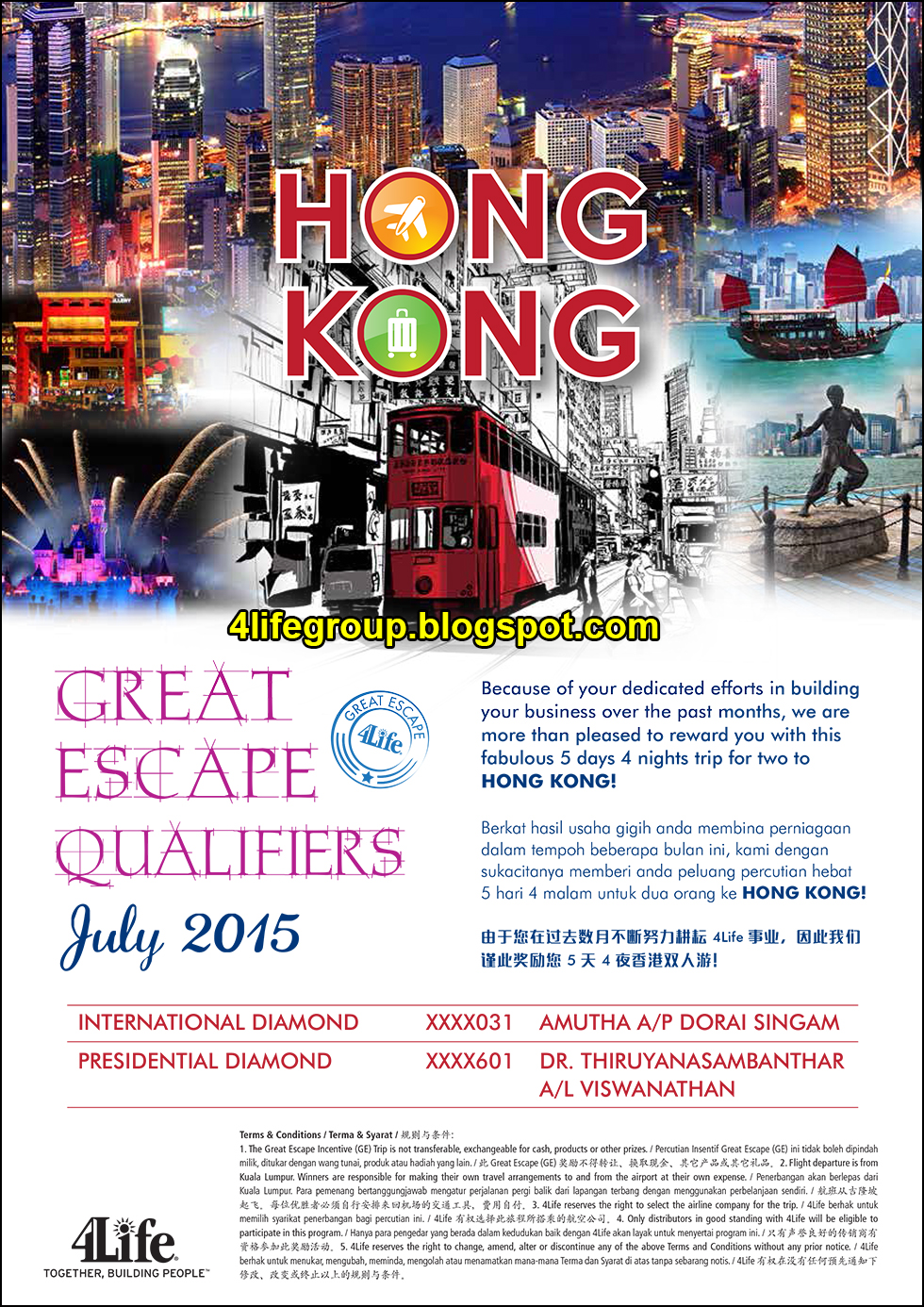 foto July 2015 Great Escape+ Winner