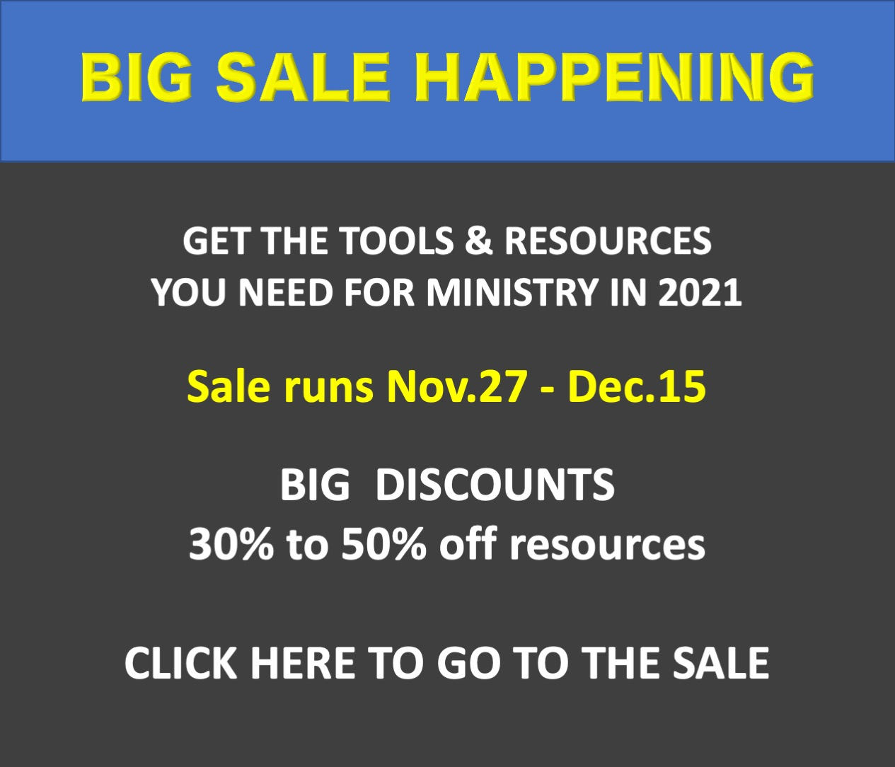 Big Resource Sale