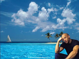 Desktop Wallpaper of actor Vin Diesel Thinking About New Action Movie Project at Blue Island Desktop Wallpaper.