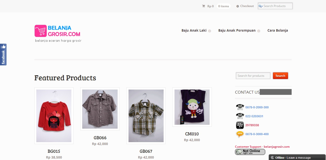 BelanjaGrosir.com | Jual Baju Anak Branded Murah