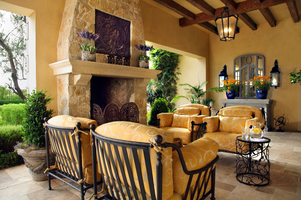 Tuscan Backyard Decor : Mediterranean Interior Design Ideas For Your Home