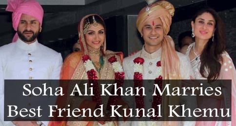 Soha Ali Khan Marries Kunal Khemu