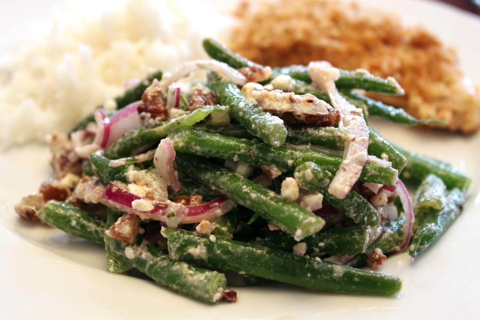 Salads and Such: Green Bean, Walnut, & Feta Salad