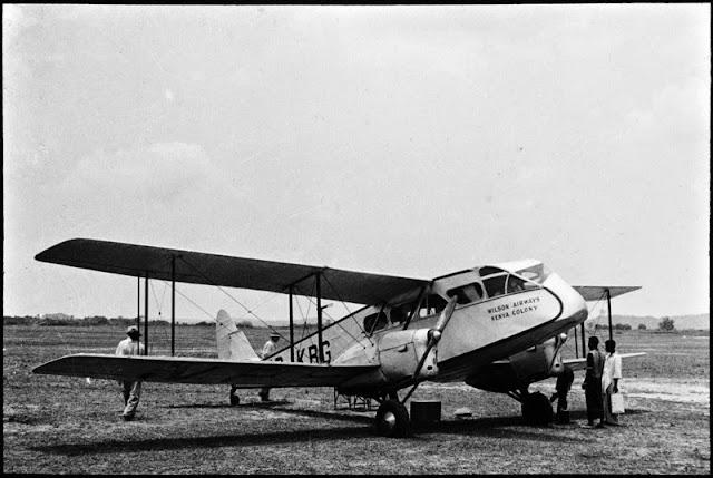 Wilson Airways aeroplane, E.O. Teale photograph collection