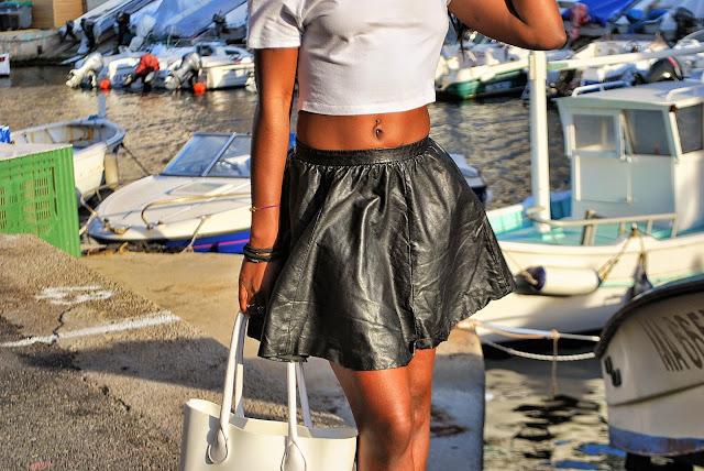 blog mode marseille, jupe patineuse, crop top, sac o bag