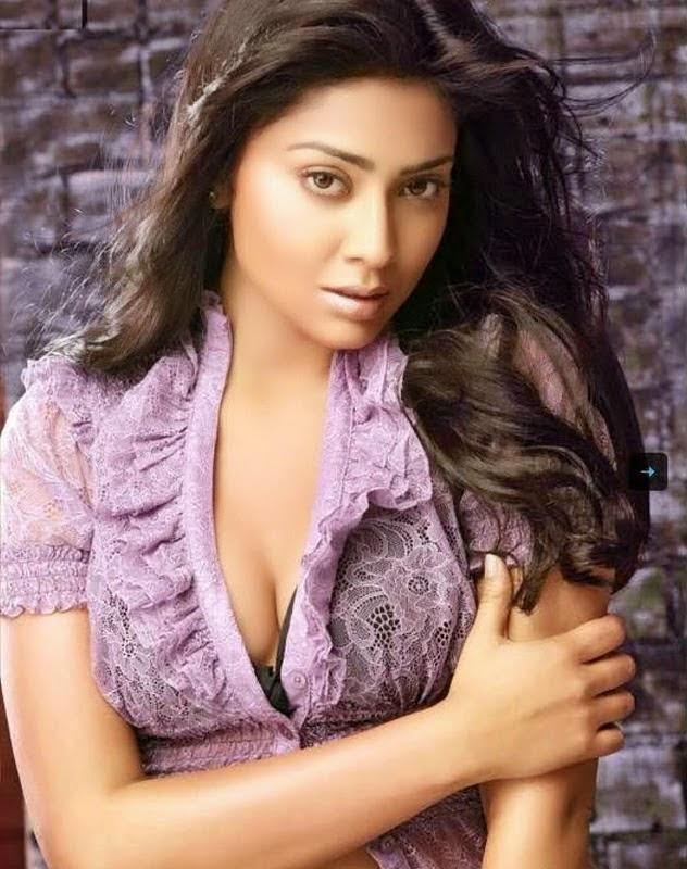 Shriya Saran hot Cleavage and navel show hd wallpapers