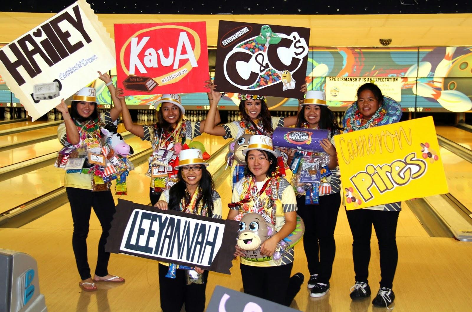 Sacred Hearts Academy Varsity Bowling Team Kehau Ho, Cameron Pires, Leeyannah Santos, Hailey Ganiron,  Kaua Arelliano, Jaime Toler, Desiree Batangan and Caitlin Cunningham