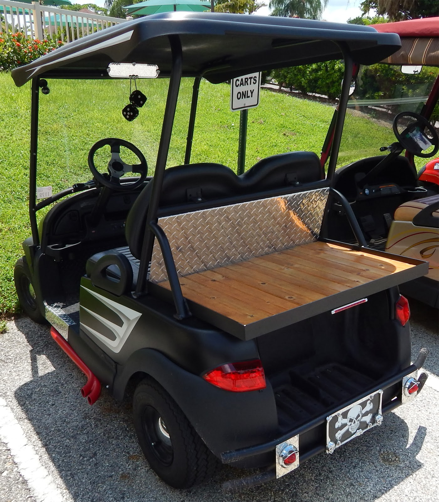 Low Rider Pitch Fork themed i2 Precedent Signature Edition Club Car on golf carts for disabled, golf carts for fire depts, golf carts vehicle,