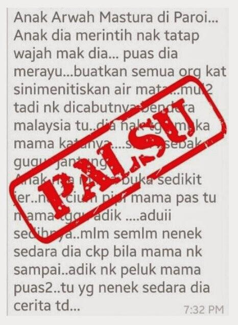 Berita palsu tersebar dihari berkabung MH17