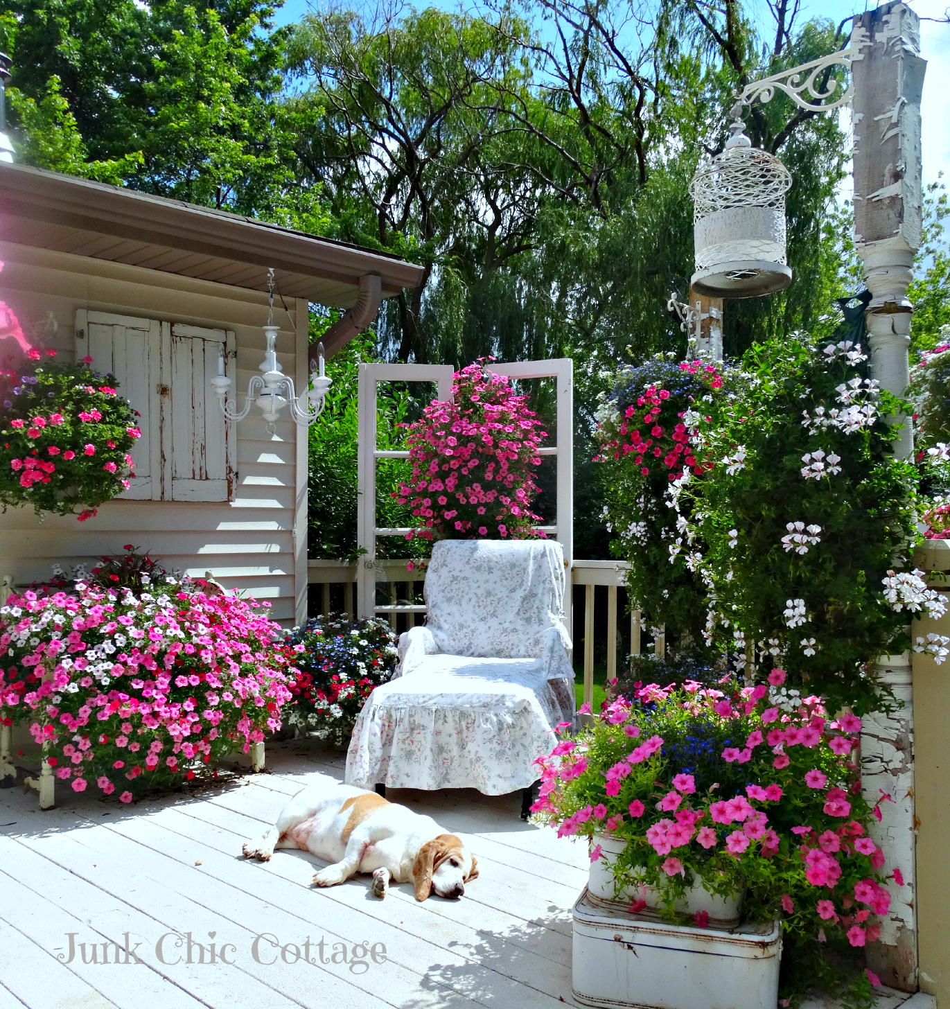 Designdreams by anne open house sundays 14 junk chic for Decoration jardin shabby