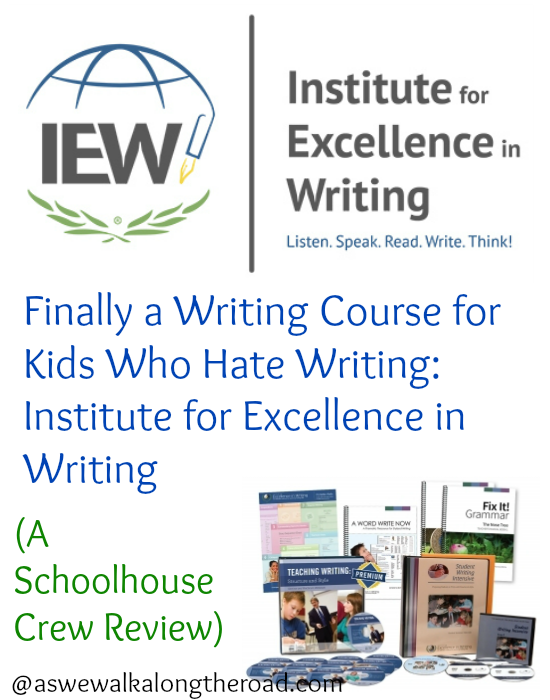 finally a writing course for kids who hate to write institute for at a homeschool convention one year a friend introduced me to iew the institute for excellence in writing she talked me in to a workshop about the