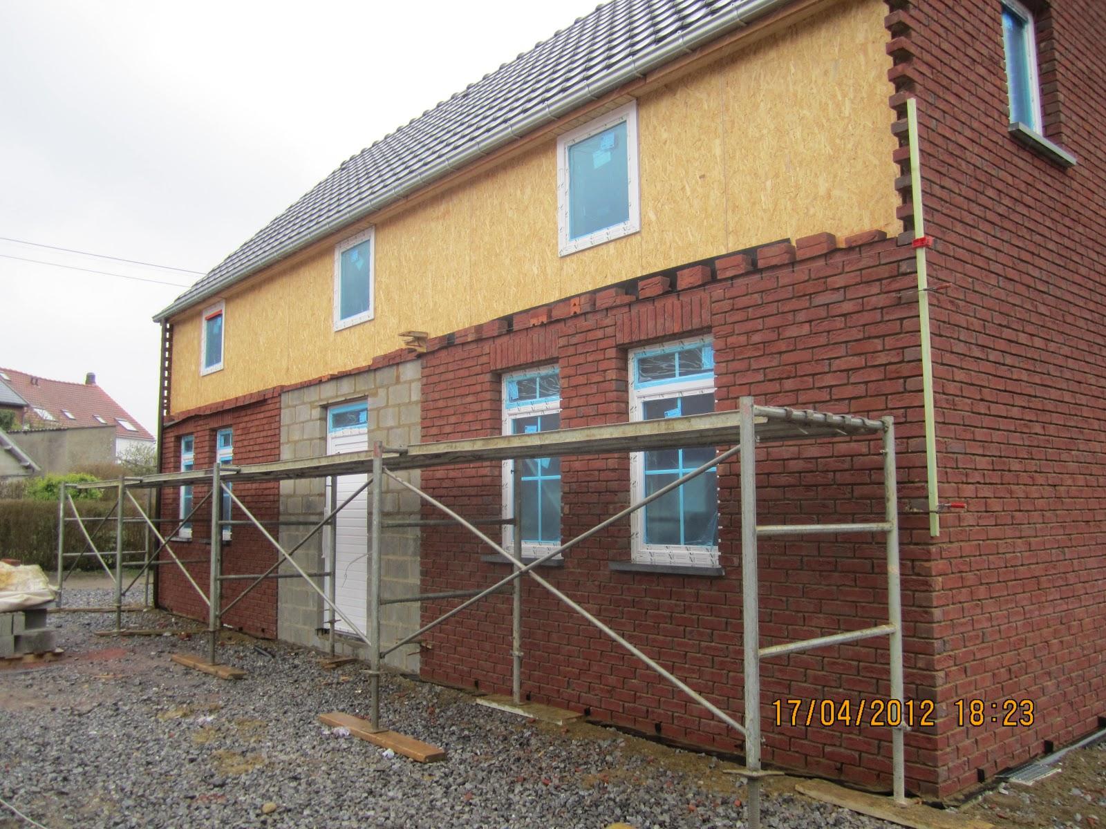 Notre maison tourinnes la grosse briques de fa ade for Brique facade maison