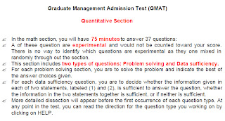 GMAT Math Quantitative Section