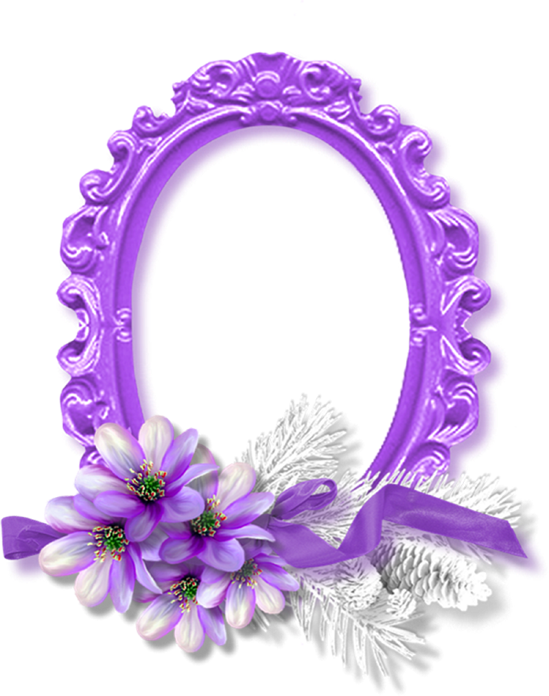 Purple Rose Frame cheyOkota digital scra...