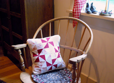 pin wheel pillow piecing