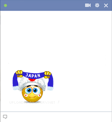 Japan football fan emoticon