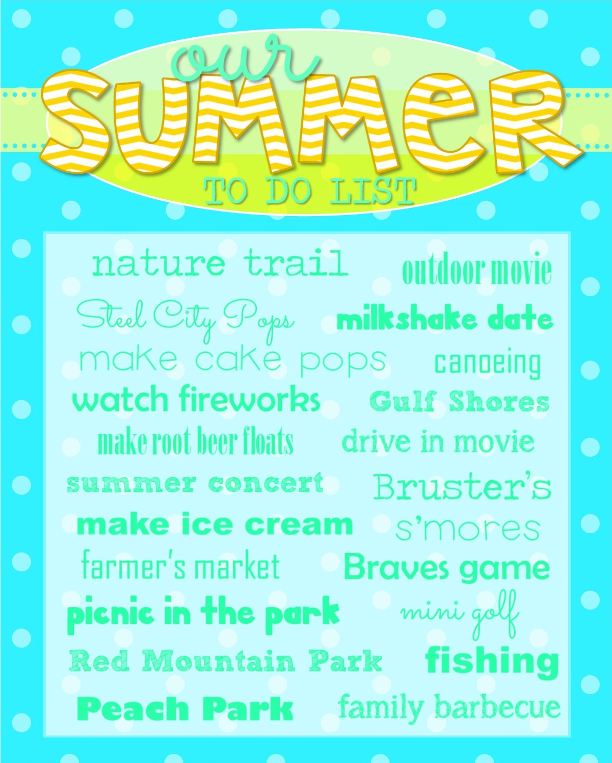 Richly Blessed: Summer To Do List and a FREE Printable!!