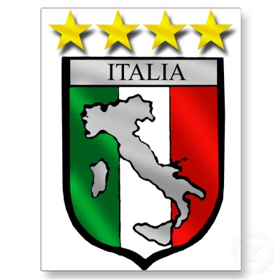Dolce Italy shield italy flag italia map soccer lovers postcard