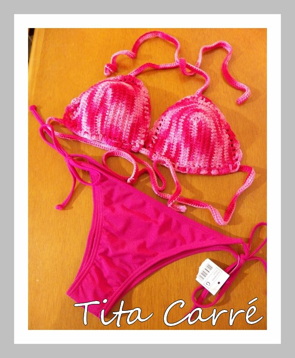 Bikini Topázio em Crochet