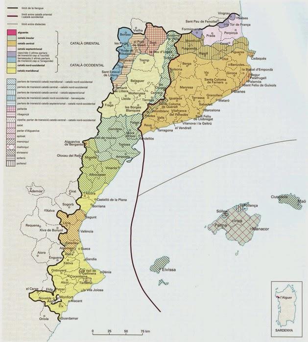 Distribució del català