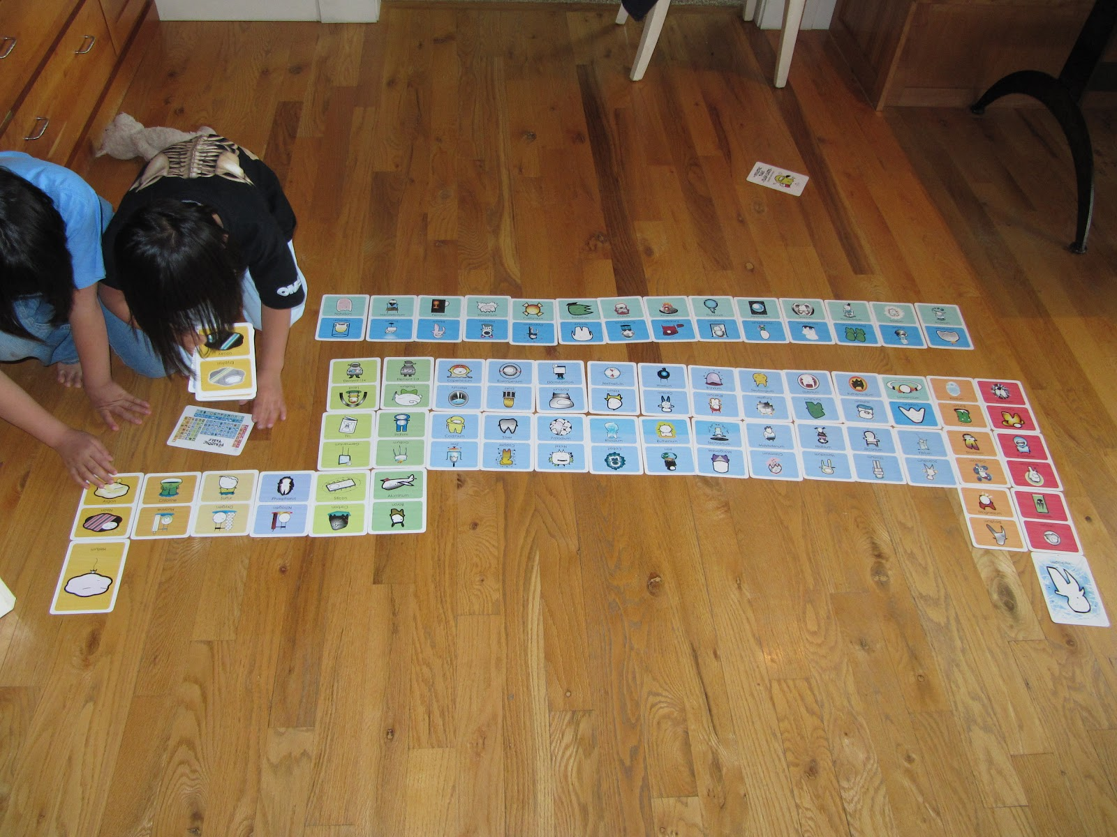 Homeschool ninjas basher periodic table flashcards the girls spent an hour this morning building the periodic table with our basher cards gamestrikefo Gallery