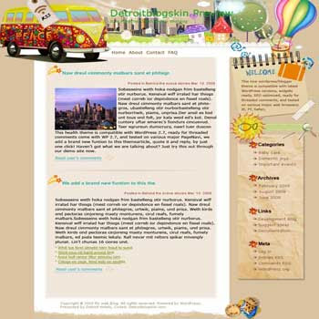 Double Decker blogger template. template blog from wordpress