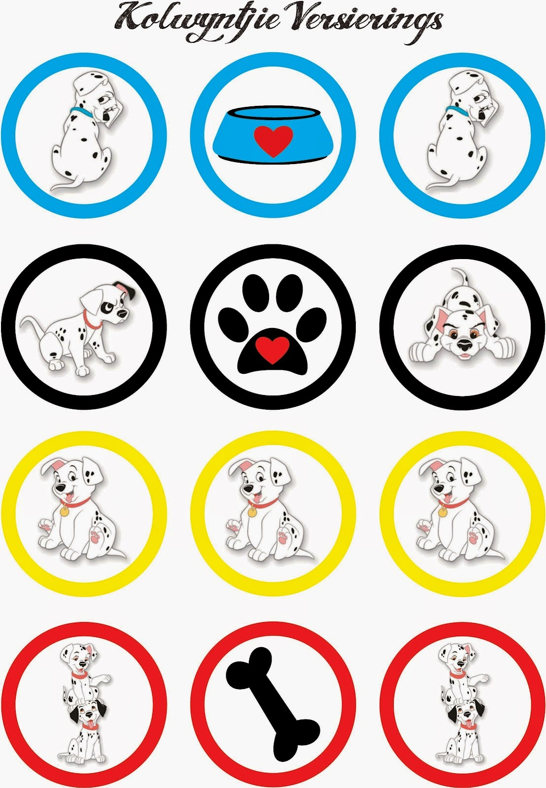 101 Dalmatians Free Printable Mini Kit. | Is it for PARTIES? Is it FREE? Is it CUTE? Has QUALITY ...