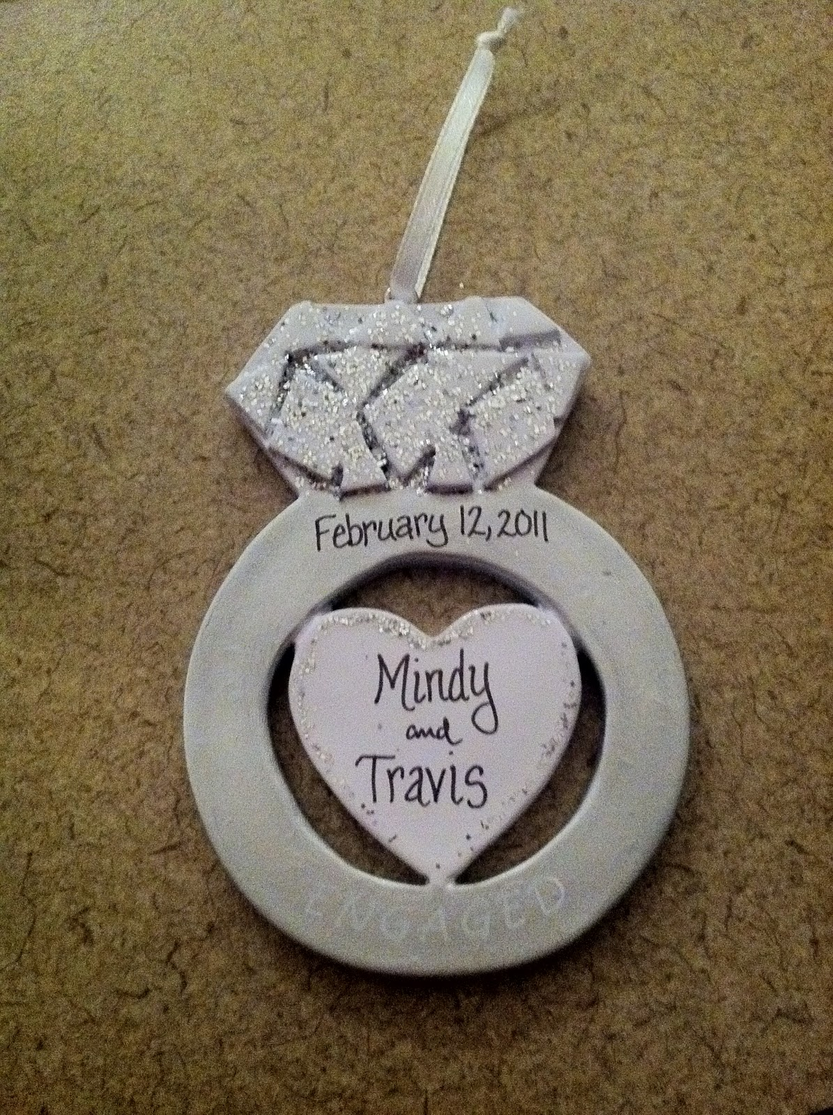 First married christmas ornament - I Ordered It From Here And I Can T Wait Till Next Christmas I Ll Have To Get A Just Married Ornament And A First Christmas In Our New House One