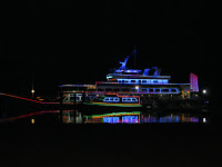 A night shot of the Danga Cruise