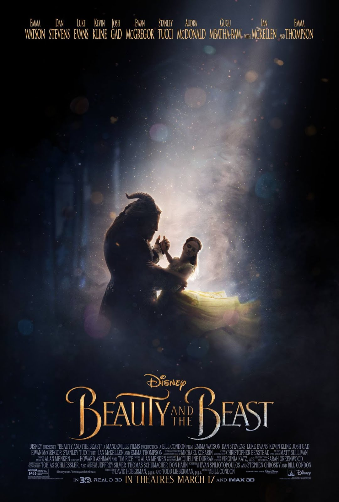Mysterious poster design with 3d text - The Original Teaser Poster For The Film Uses The Scene Of Belle And The Beast Dancing To A Great Effect That Keeps Some Of The Mystery Of The Beast Intact