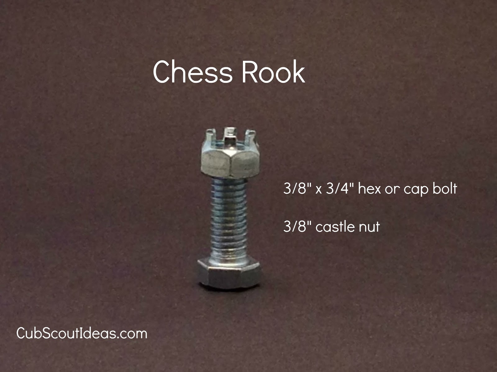 Build Your Own Nuts & Bolts Chess Set