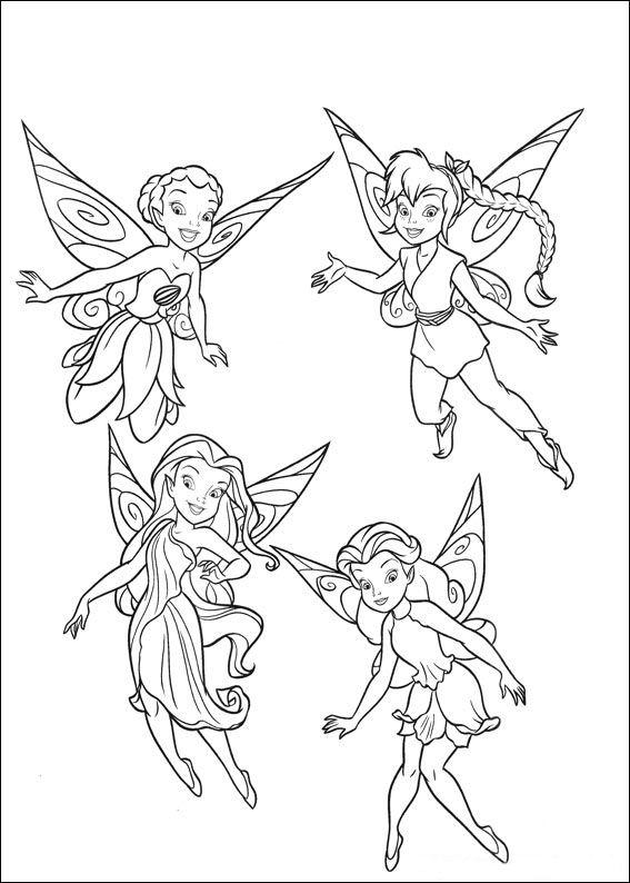 Banco de Imagenes y fotos gratis: Dibujos de Tinkerbell para Pintar ...