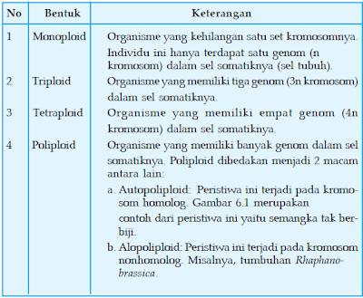 Perubahan pada Kromosom