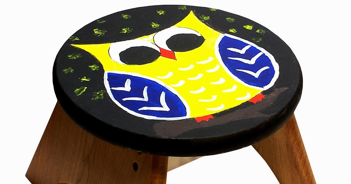 Pepperell Crafts Owl Be Your Step Stool