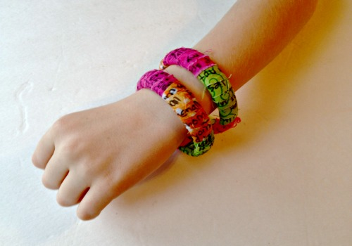 Fabric-Wrapped Poetry Bracelet