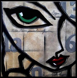 Rostros Cuadros Modernos Abstractos