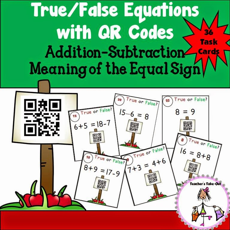 True False Equations with QR Codes