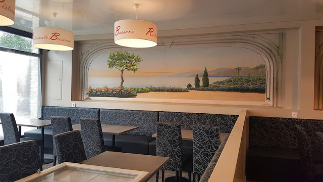 le blog belmon d co nos trompe l 39 oeil dans un restaurant italien. Black Bedroom Furniture Sets. Home Design Ideas