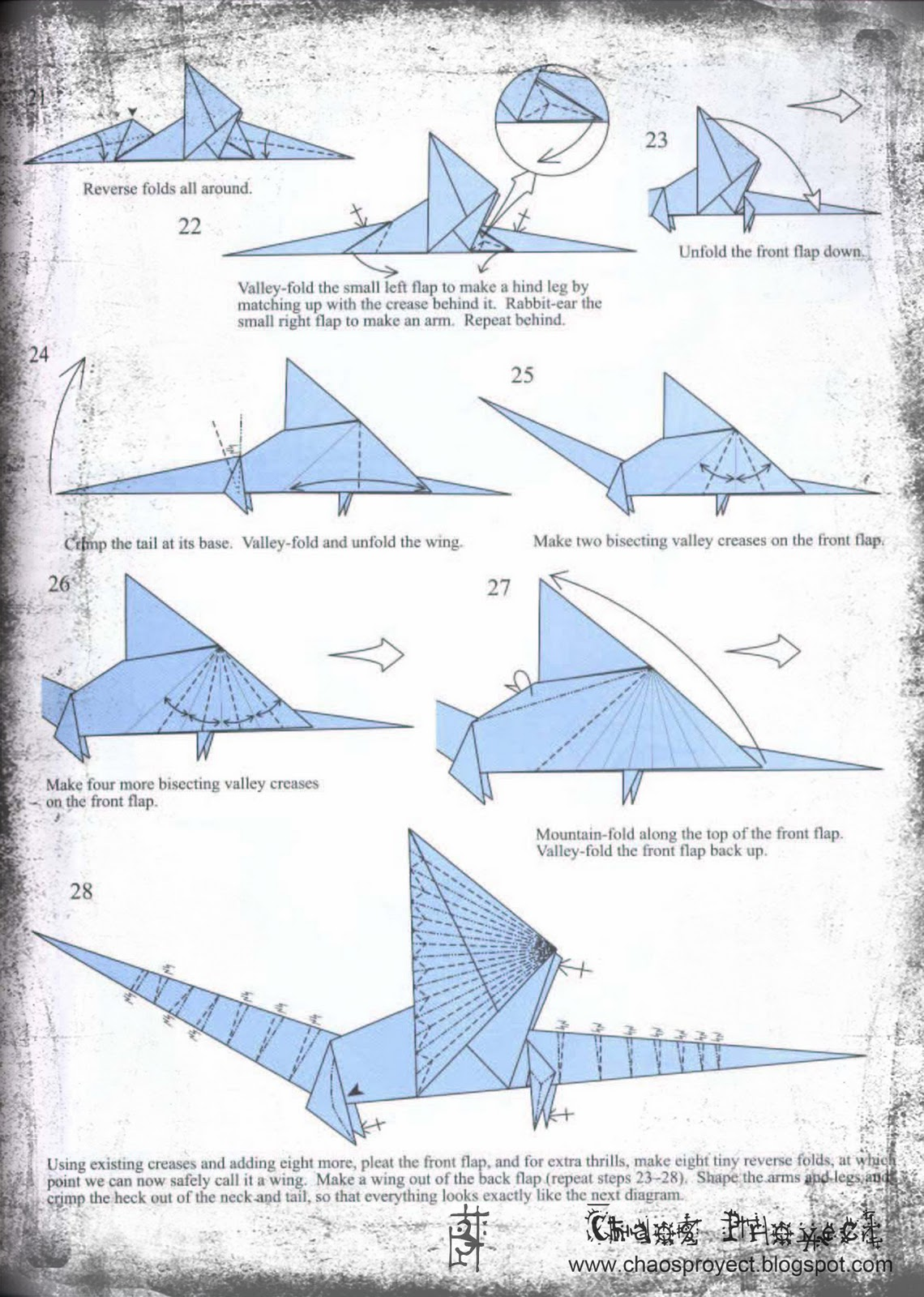 chaos proyect drag243n de origamiorigami dragon